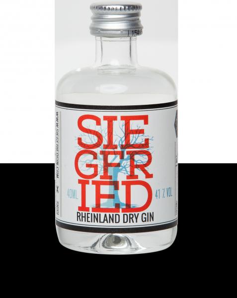 SIEGFRIED Rheinland Dry Gin, Premium, 41 % Vol. in der Miniflasche